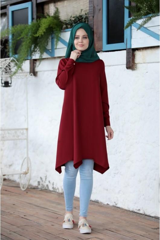 Alara Tunic - Claret Red