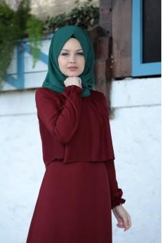 Elisa Dress Claret Red