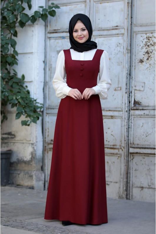 Bonita Gilet Claret Red