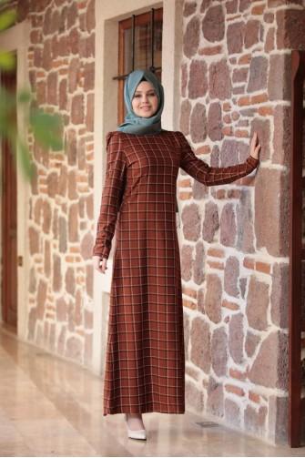 Ayla Dress - Brick