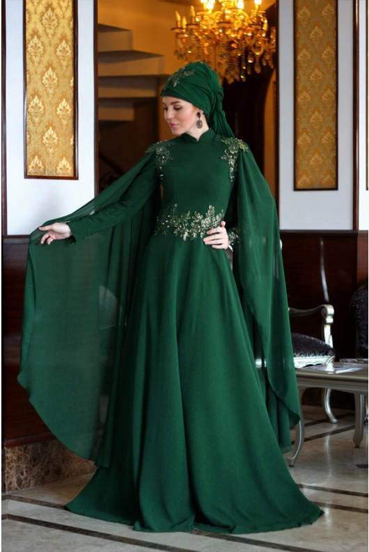 Ahu Dress - Emerald