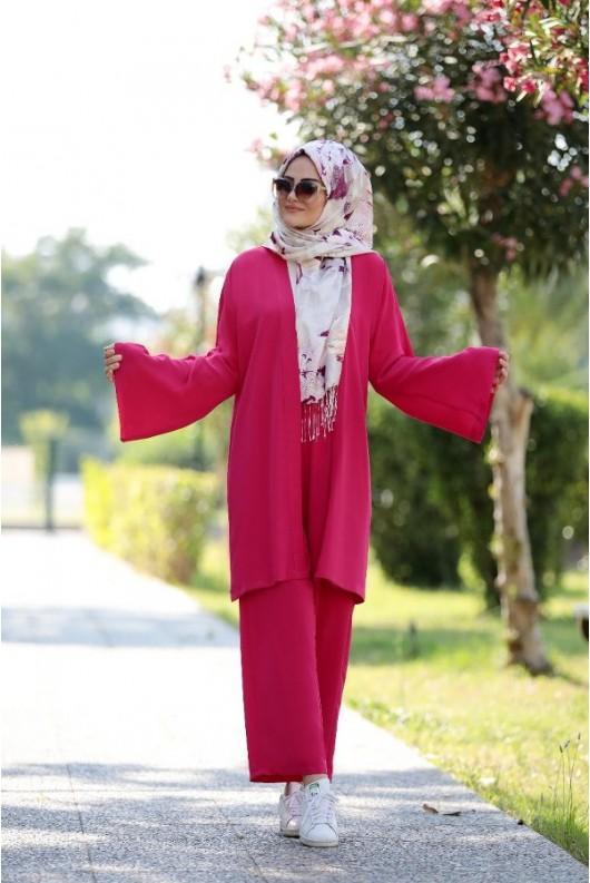 Dilay Suit - Fushia