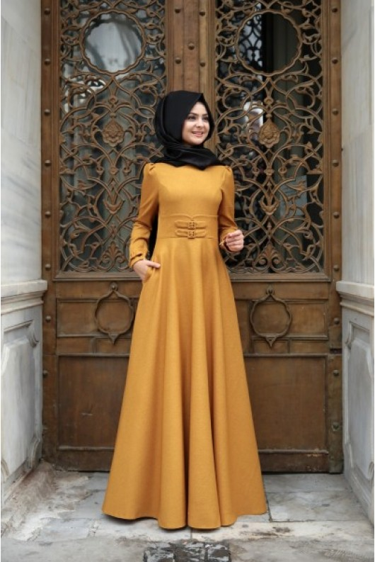 Korsaj Dress - Claret Red