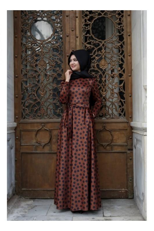 Korsaj Dress - Claret Red