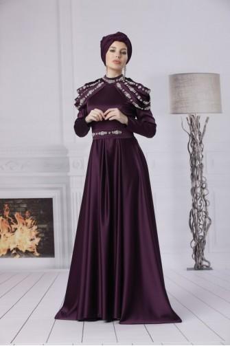 Afife Dress - Plum