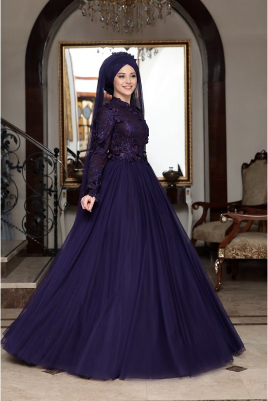 Behrem Dress - Purple