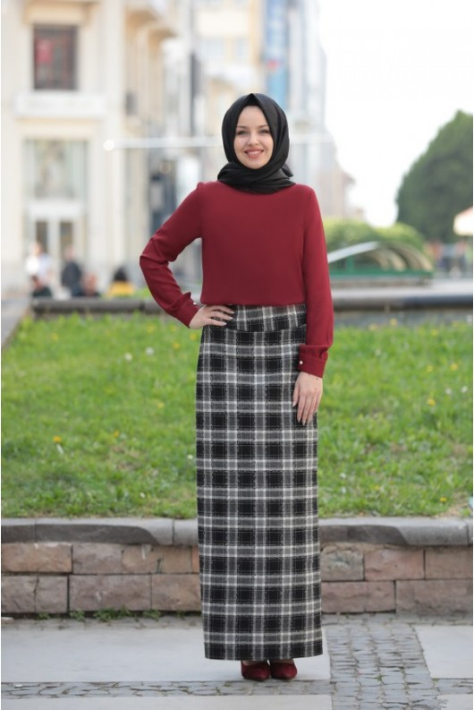 Blouse Claret Red
