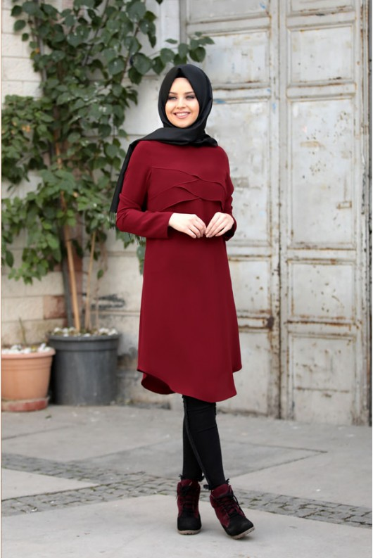 Pelerin Tunik Bordo