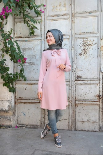 Gamze Polat powder Tunic