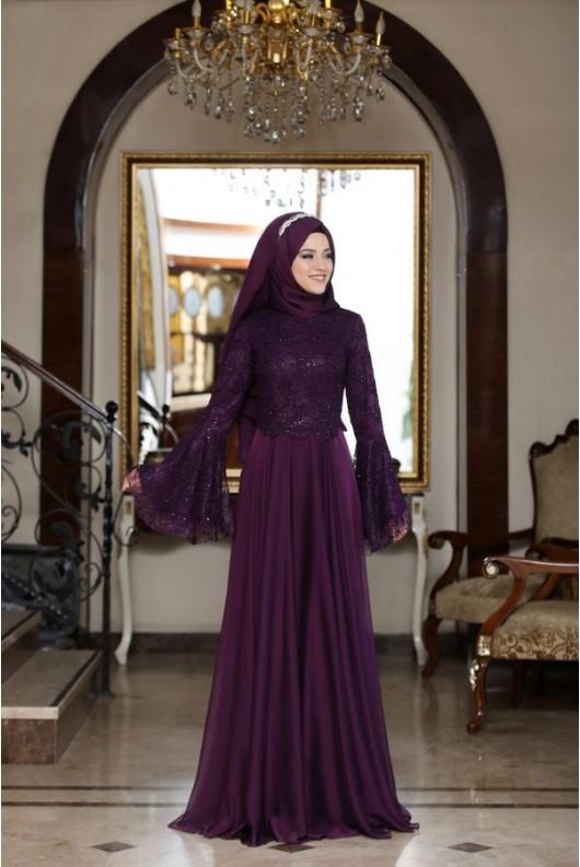 Behrem Dress - Purple