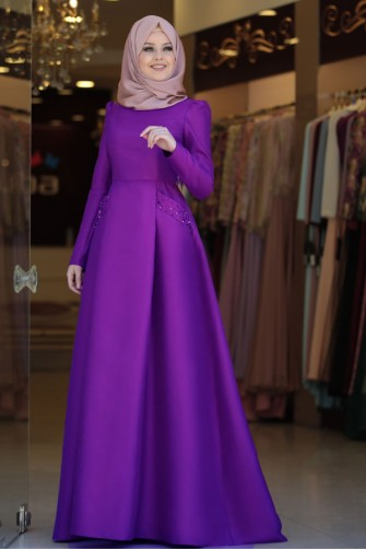 Basak Abaya Purple