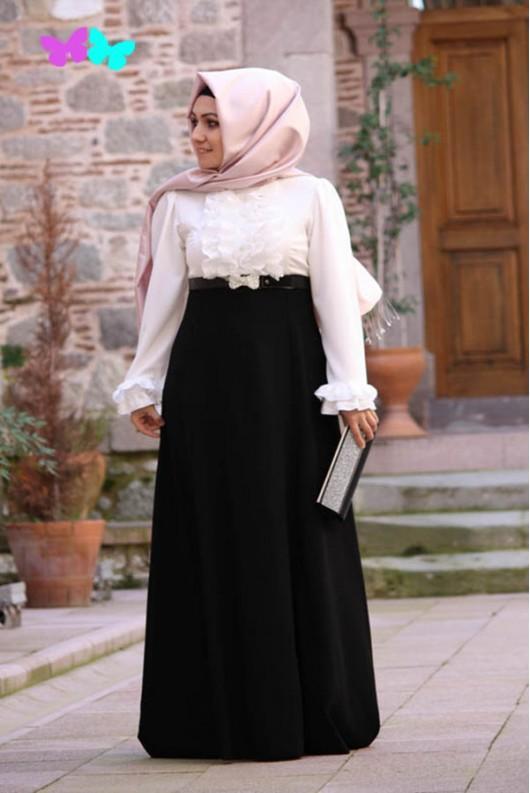 Pınar Şems ruffled black Dress