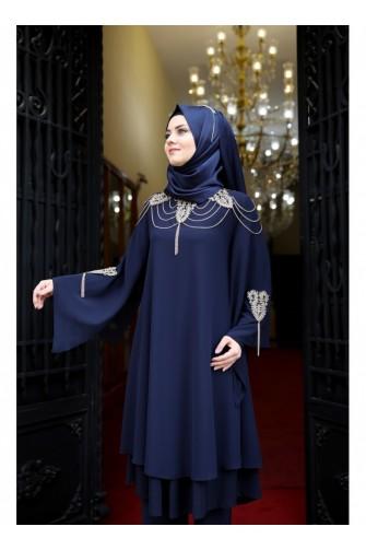 Efsun Suit Dark Blue