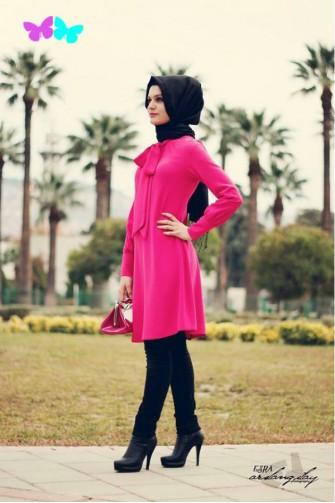 Gamze Polat pink Tunic