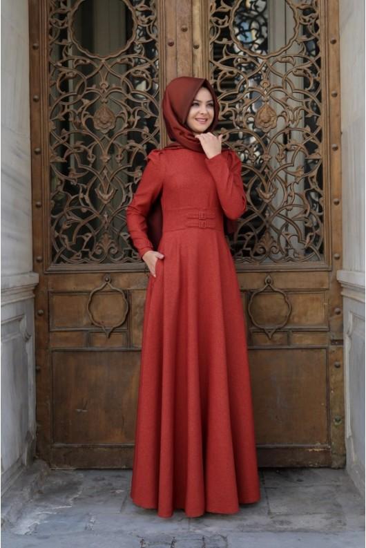 Korsaj Dress - Brick