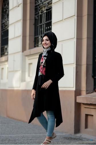 asymmetrıcal black Tunic